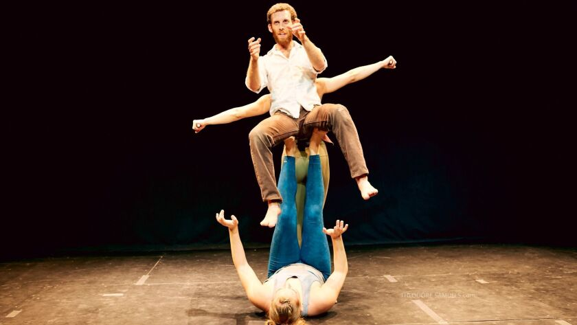 """The performance troupe Curbside presents """"Flight"""" at the 2017 San Diego International Fringe Festival."""
