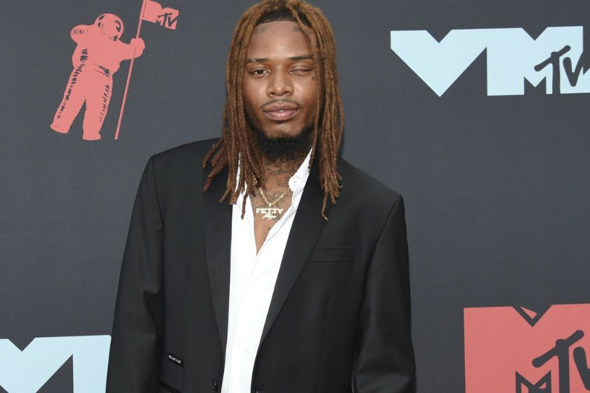 Fetty Wap arrives at the MTV Video Music Awards at the Prudential Center in Newark, N.J., on Aug. 26.
