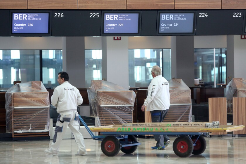 BER Berlin Airport expected to open in 2020, Germany - 08 May 2019