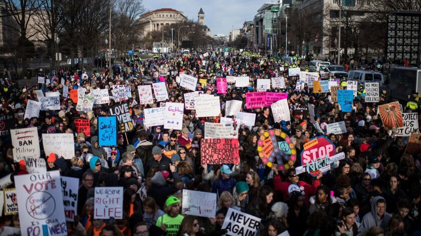 The crowd hours before the start of the March for Our Lives rally in Washington, D.C. on March 14, 2018.