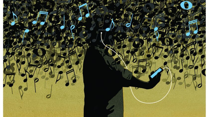 A digital deluge of music.