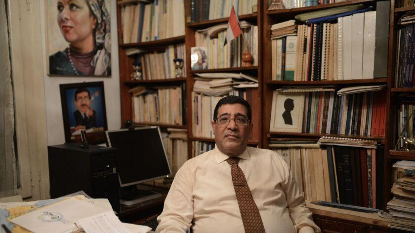 Economist Abdel-Khalek Farouk at his residence in Sherouk, east of Cairo, Egypt. November 2018.