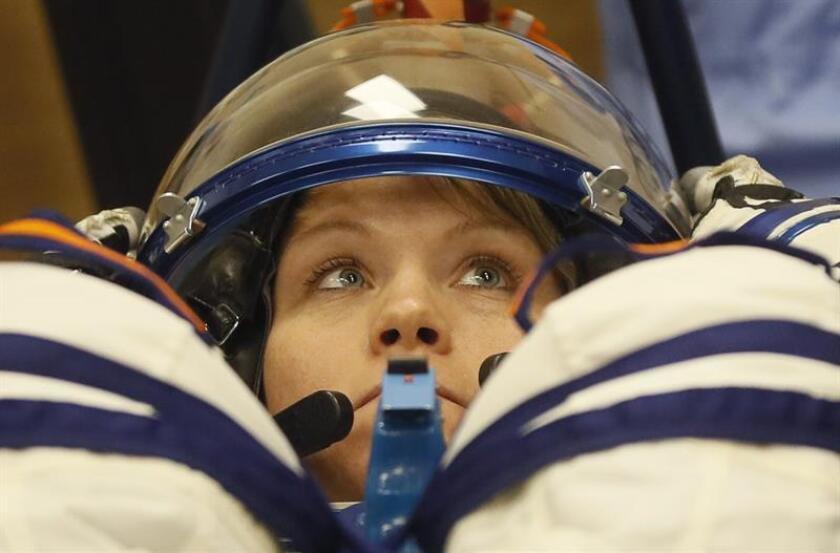 En la imagen, la astronauta estadounidense de la NASA Anne McClain. EFE/Archivo
