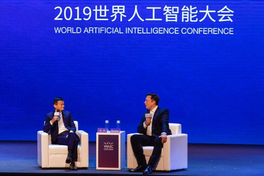 Jack Ma and Elon Musk