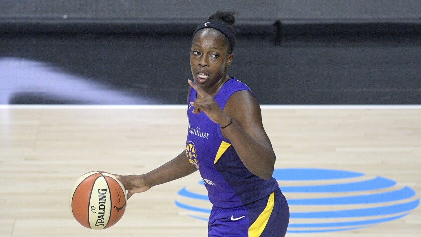Sparks guard Chelsea Gray scored 18 points in the team's loss to the Minnesota Lynx on Monday.
