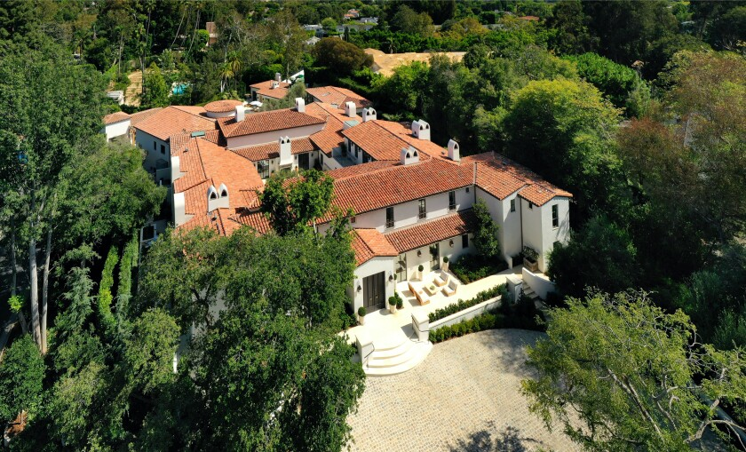 Built in 1931 by Paul R. Williams, the Spanish-style mansion spans more than 17,000 square feet with seven bedrooms, nine bathrooms and a number of newly remodeled living spaces.