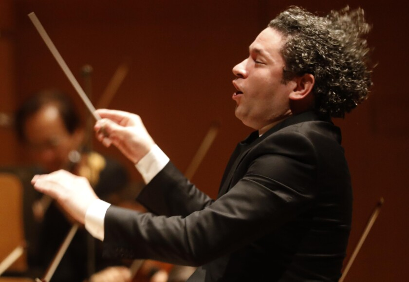 Dudamel continues his Ives-Dvorak cycle on Thursday, Friday and Saturday.