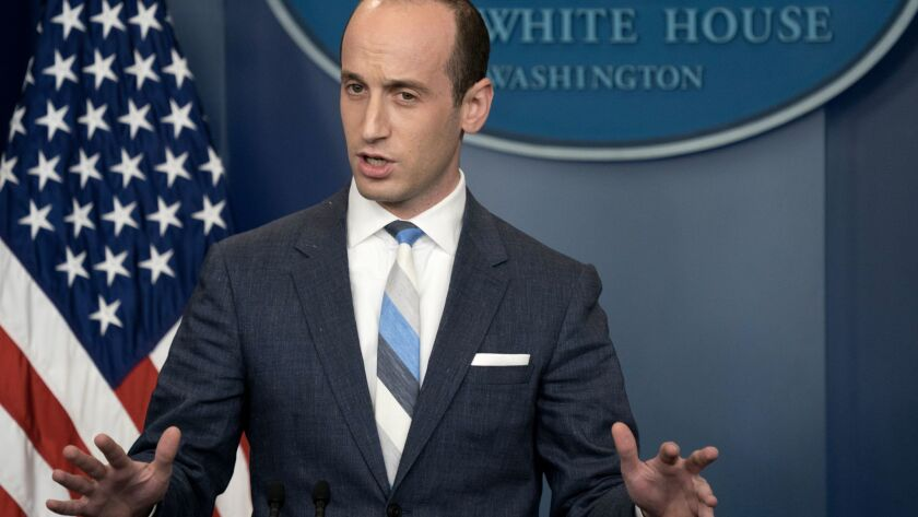 White House advisor Stephen Miller responds to questions on the Trump administration's immigration policy.