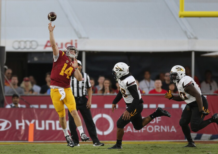 Sam Darnold's play provides early vindication for Helton's trust