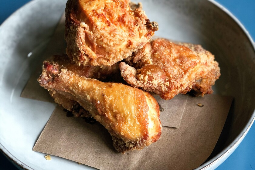 LOS ANGELES, CA.,MAY 28, 2020: Fried chicken from Spartina (handout from Spartina)