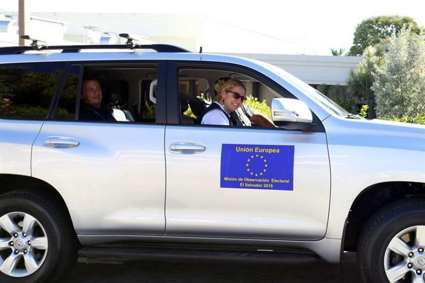 "European Union election observers depart on Jan. 5, 2019, after the presentation in San Salvador of their ""long-term"" mission to monitor activities surrounding the Feb. 3 presidential election in El Salvador. EFE-EPA/ Miguel Lemus"