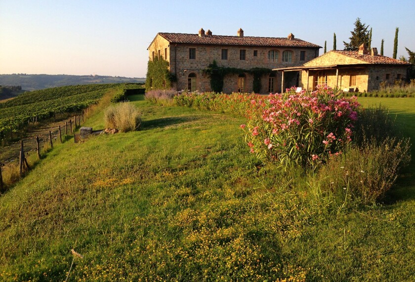 The Villa Gauggiole at Castiglion del Bosco, a resort-style property outside Montalcino, where the writer stayed with other members of a wedding party.