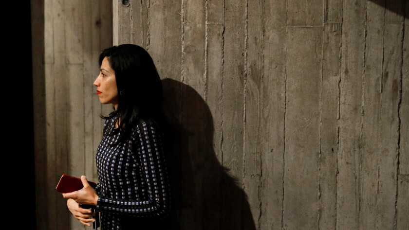 Huma Abedin, longtime aide to Democratic presidential candidate Hillary Clinton.