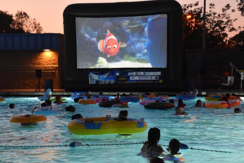 Poway movie night at Swim Center - 7/15/17