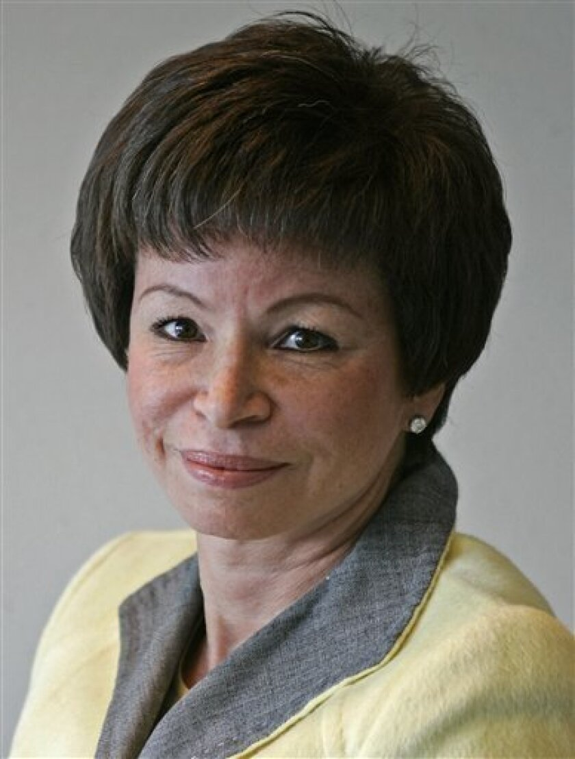 ** In this May 22, 2008, file photo Obama campaign aide Valerie Jarrett poses in Chicago. (AP Photo/Jerry Lai, FILE)
