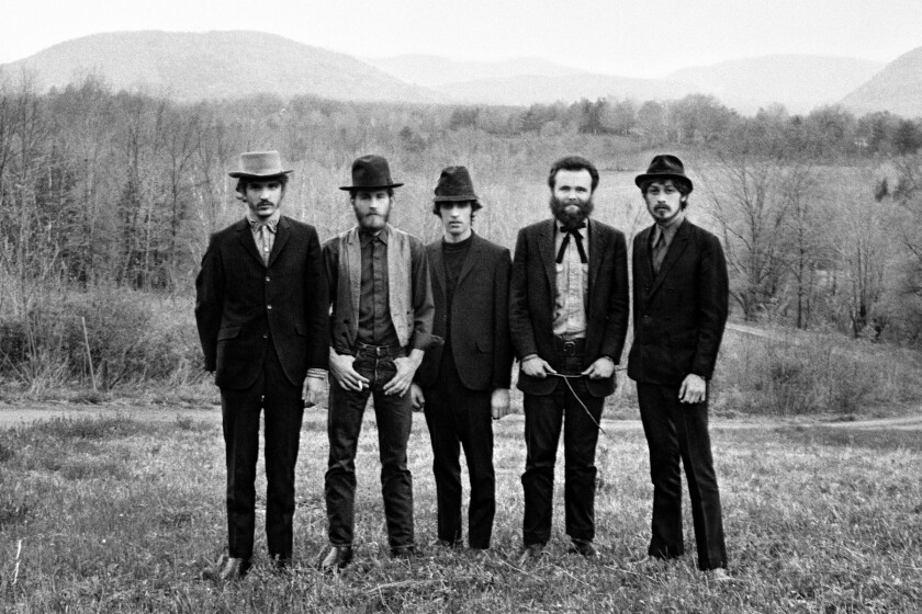 "The Band, from left: Rick Danko, Levon Helm, Richard Manuel, Garth Hudson and Robbie Robertson, from the documentary ""Once Were Brothers: Robbie Robertson and the Band."