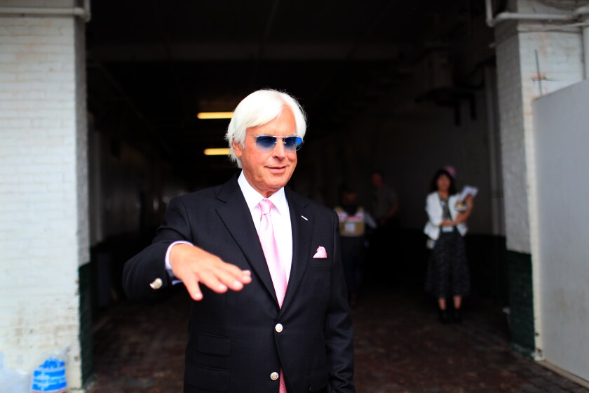 Trainer Bob Baffert, shown at Churchill Downs before the 2019 Kentucky Oaks, has high hopes for Nadal in a bid to qualify for the Kentucky Derby.