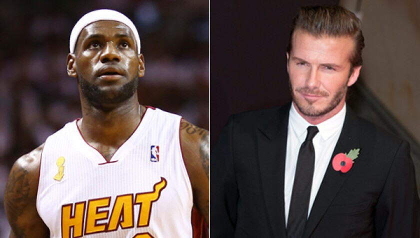 pretty nice ba4e3 d0043 LeBron James talking soccer partnership with David Beckham ...