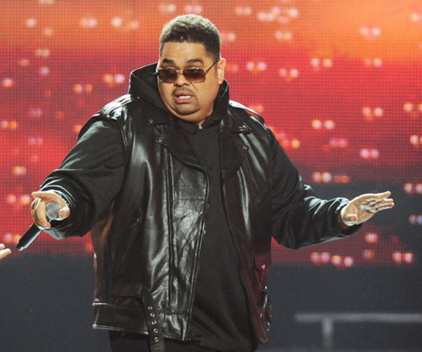 "Rapper Heavy D, real name Dwight Arrington Myers, collapsed outside his Beverly Hills home on Tuesday and was later pronounced dead at a local hospital. The Jamaican American singer launched his career in the late 1980s with the albums ""Living Large"" and ""Big Tyme."" He went on to act in projects such as ""Big Trouble"" and ""Tyler Perry's House of Payne."" Recently, Heavy D returned to rap, performing for the first time in 15 years at the BET Hip Hop Awards (pictured) in October 2011."