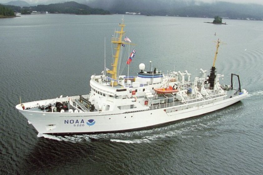 Scientists aboard the survey ship Fairweather will travel along the U.S. West Coast to study ocean acidification.