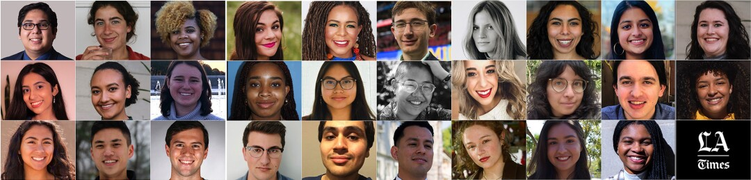 The Los Angeles Times 2021 Summer Intern class.