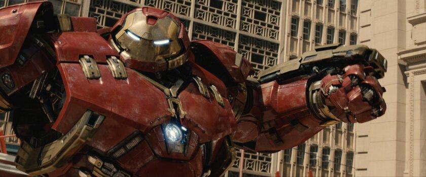 "A scene from ""Avengers: Age Of Ultron,"" Walt Disney Co.'s recent superhero blockbuster."