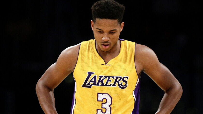 low priced e2bdc 7864f No surprise, but Lakers rookie Anthony Brown can't stop ...