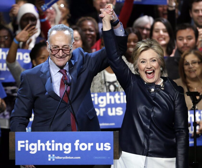 Clinton campaigns in New York City