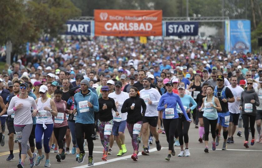 The Carlsbad Marathon and Half Marathon.
