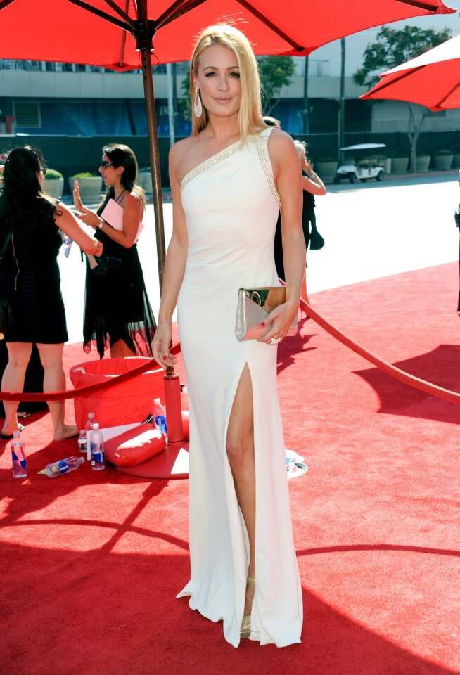 """""""So You Think You Can Dance"""" host Cat Deeley arrives at the Primetime Creative Arts Emmy Awards."""