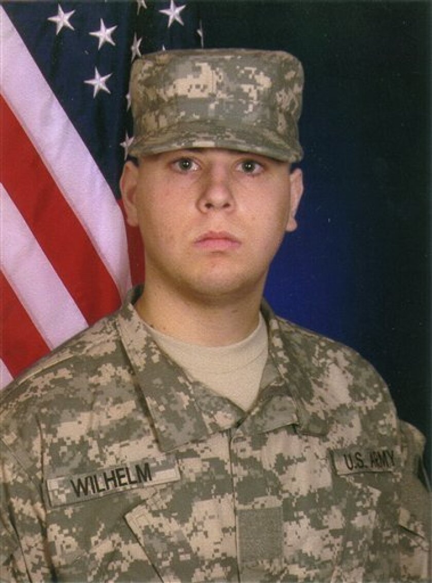This undated photo provided by his family shows Kieffer Wilhelm, a 19-year-old Army private from Willard, Ohio, who killed himself in Iraq in August 2009. Military investigators say Wilhelm had been a target of four soldiers who were mistreating some of the men in their platoon, but they also concluded the alleged misconduct didn't cause Wilhelm's death. (AP Photo/Courtesy of Adrian Shane Wilhelm)