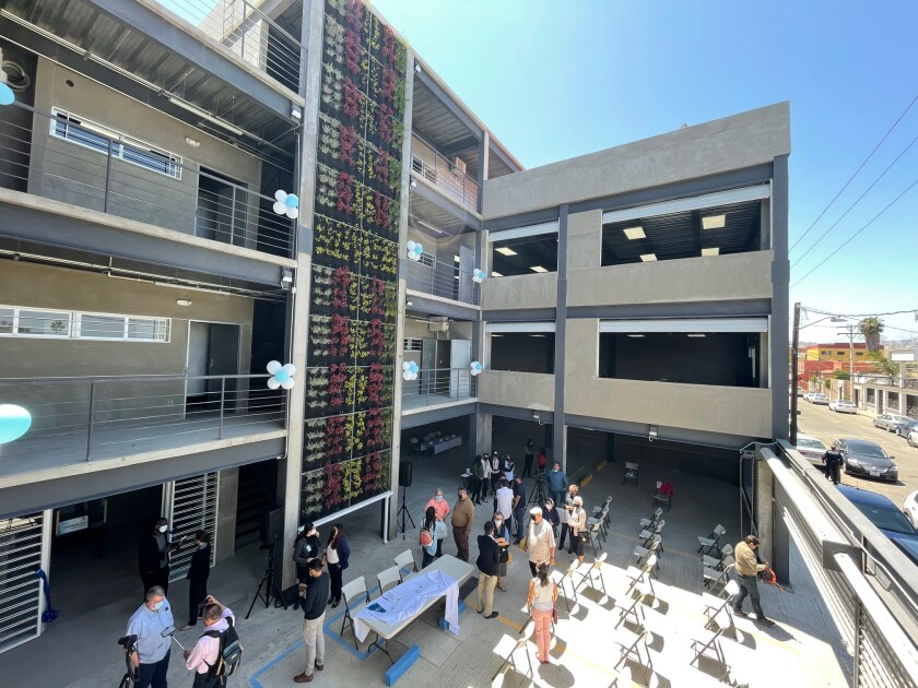 El Centro Scalabrini de Formación para Migrantes abrió este viernes 7 de mayo de 2021 en Tijuana.