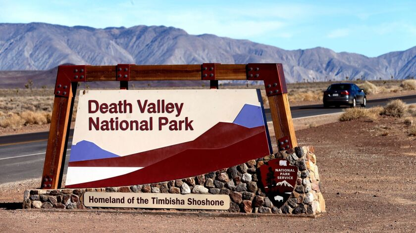 An entrance to Death Valley National Park, shown in 2015.