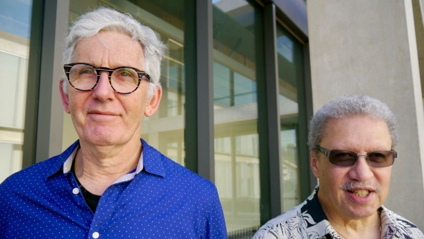 Mark Dresser (left) and Anthony Davis will perform Saturday at UC San Diego, where both are music professors.