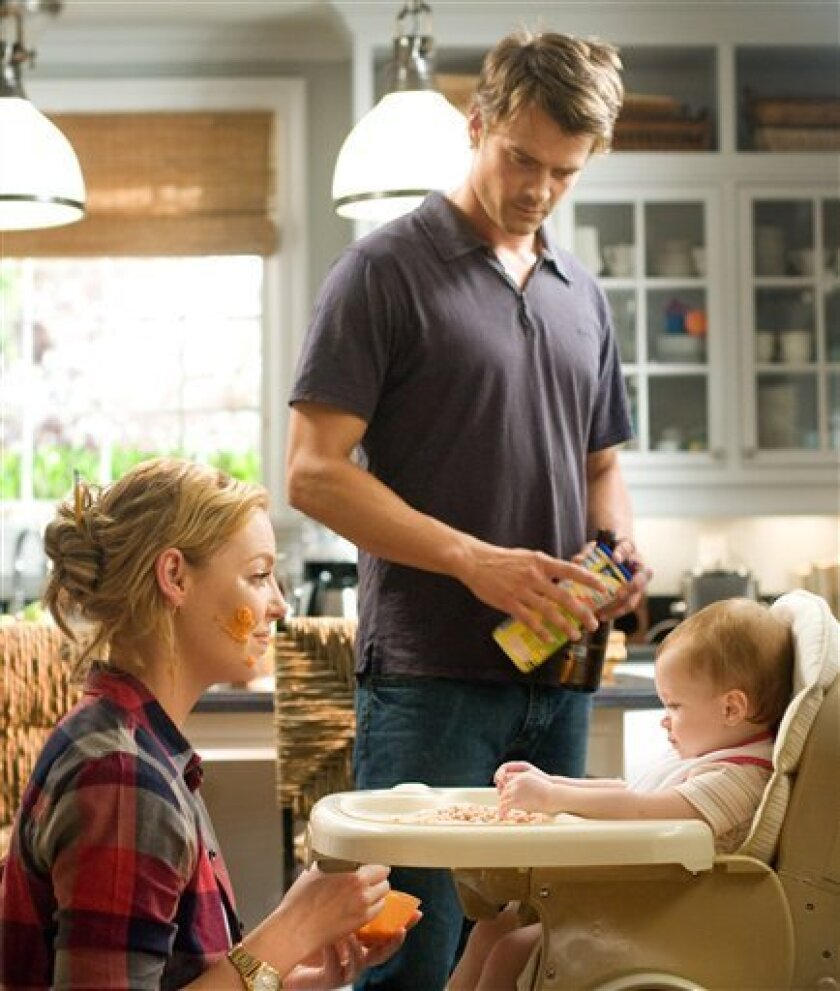"""In this publicity image released by Warner Bros., Katherine Heigl, left, and Josh Duhamel are shown in a scene from """"Life as We Know It. (AP Photo/ Warner Bros. Pictures, Peter Iovino)"""