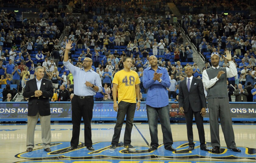 Members of UCLA's 1995 championship team.