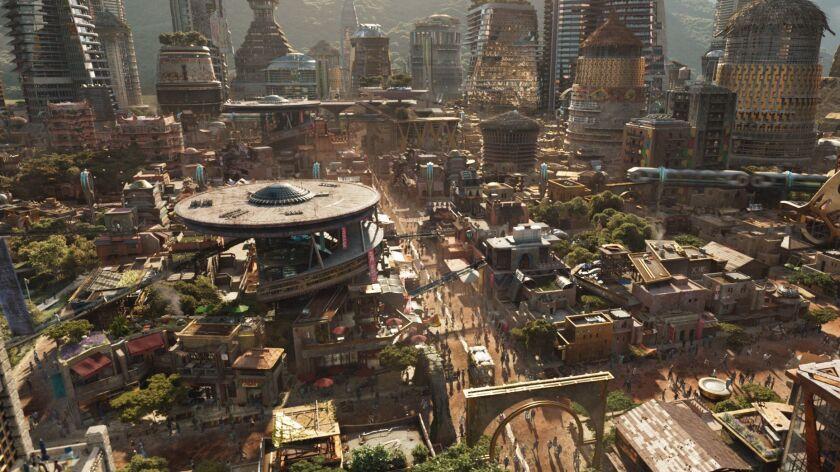 "A scene of Wakanda from Marvel Studios' ""BLACK PANTHER"" Credit: Film Frame/Marvel Studios"