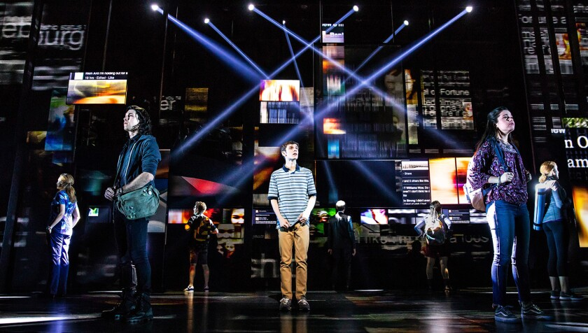 "Ben Levi Ross plays the title role in the national tour of ""Dear Evan Hansen,"" now onstage at Segerstrom Center in Costa Mesa."