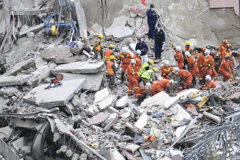 Virus Outbreak China Hotel Collapse