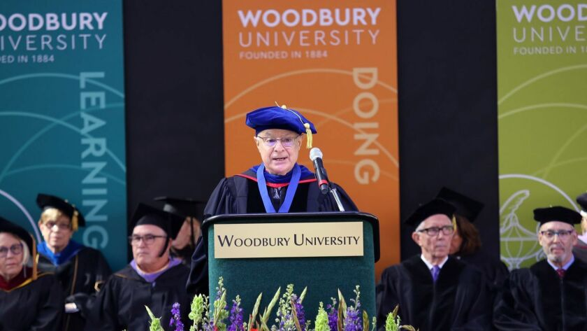 Woodbury University President Dr. David Steele-Figueredo during the Woodbury University Graduation c