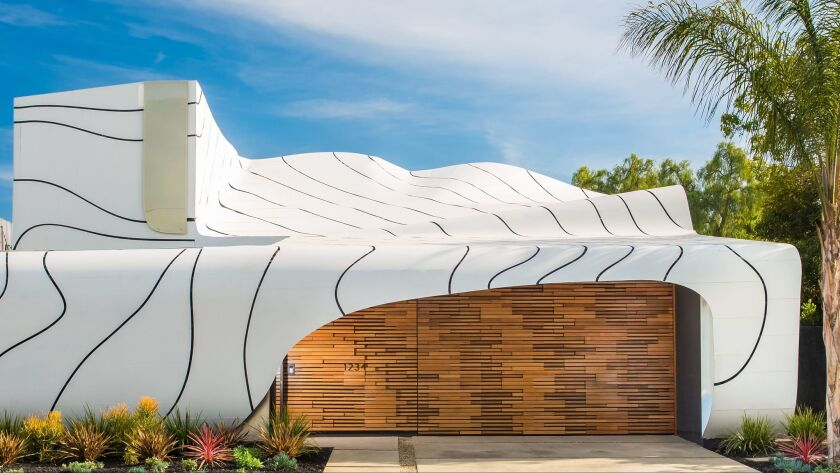 Builder-designer Mario Romano's 'Wave House,' a riff on air and water currents, and an example of parametric design.