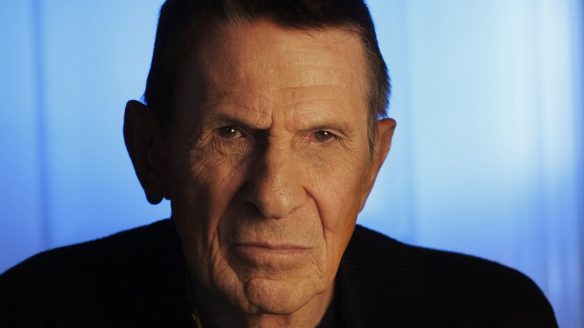 Leonard Nimoy in April 2009. The actor died Friday at his home in Bel-Air at age 83.