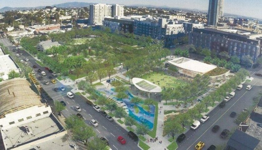 East Village Green would get $5 million on top of $20 million already budgeted for a  4.1-acre park downtown, under a plan by Civic San Diego.