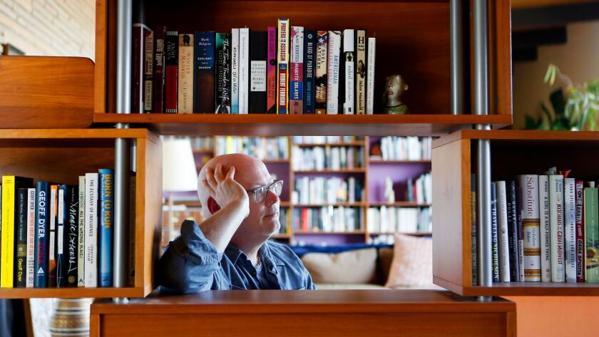 LOS ANGELES, CA MAY 8, 2017: Portrait of author Mark Haskell Smith, in his home in Los Angeles, CA