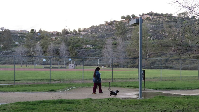 Silverset Park in central Poway