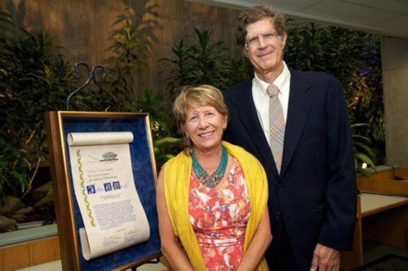 Geisel-Library-Dinner-Diane-De-Witte-and-John-Berol-recipient-of-the-Geisel-Citation