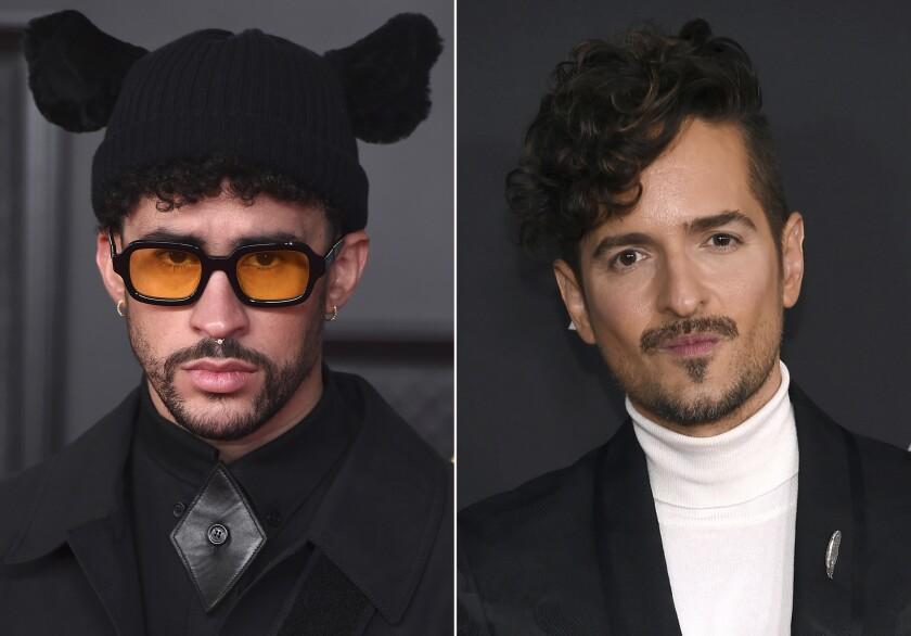 En esta combinación de fotos, Bad Bunny y Tommy Torres