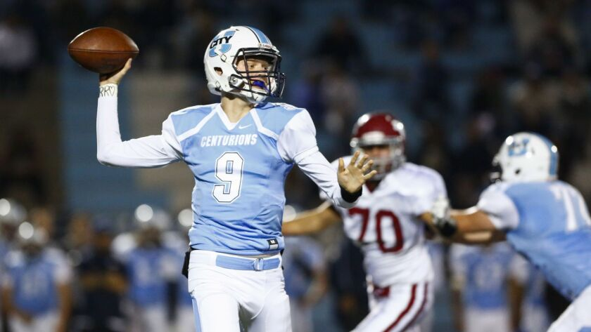 University City quarterback Gunnar Gray connected on 20-of-28 passes for 404 yards and six touchdowns in last week's win over Valhalla.