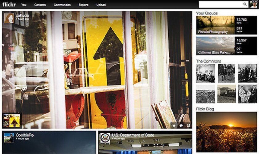 Yahoo announced a new look for Flickr on Monday.
