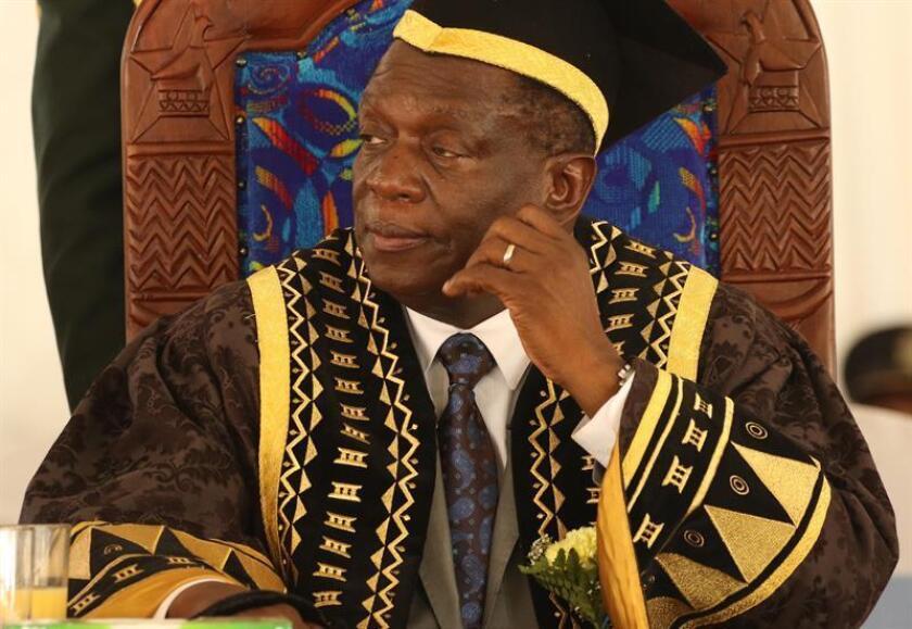 El presidente provisional, Emmerson Mnangagwa, confirmado como líder y candidato presidencial del partido gobernante de Zimbabwe, Zanu-PF. EFE/Archivo